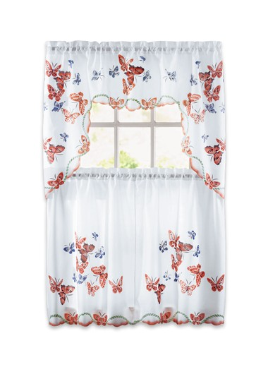 Butterfly curtain set butterfly curtain set