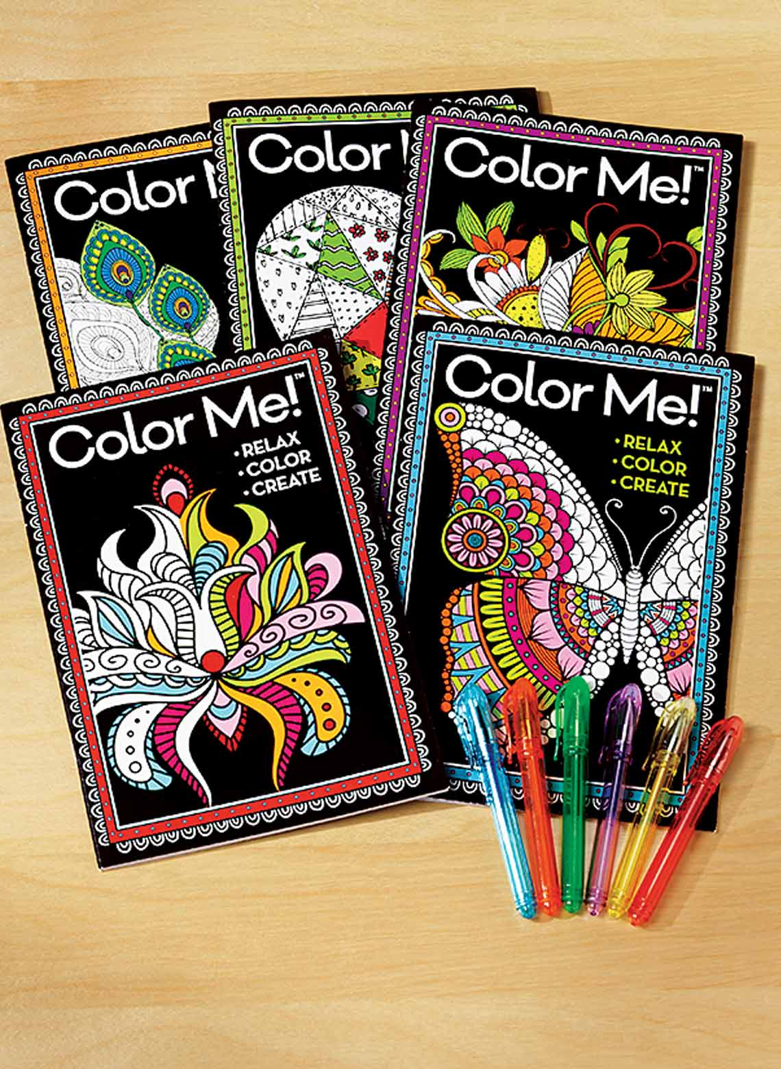 Color Me! Coloring Books & Gel Pens | CarolWrightGifts.com