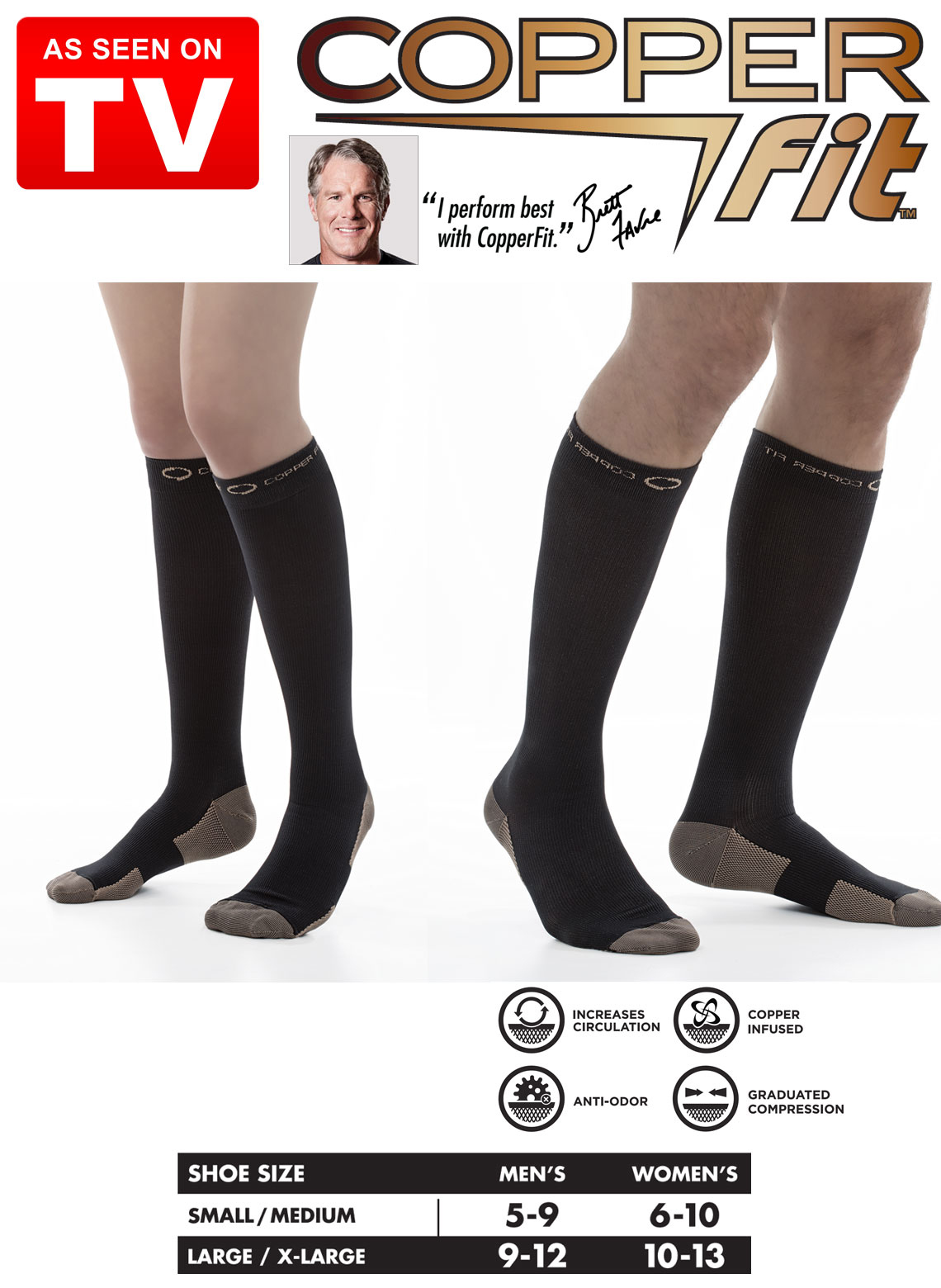 499c400c6 Copper Fit Compression Socks. Loading zoom