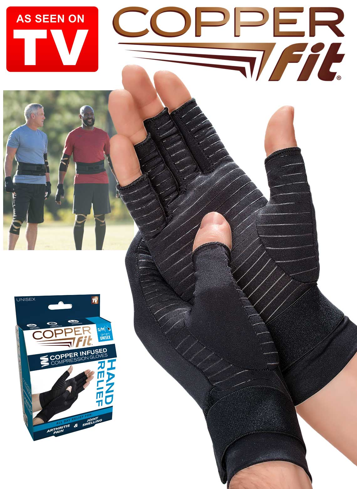 f9776cc5d96 Copper Fit Relief Gloves. Loading zoom