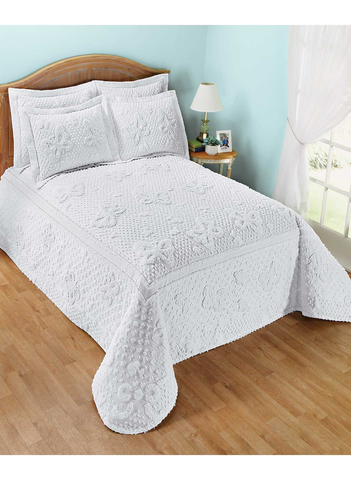 Cotton Chenille Butterfly Bedding Separates