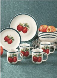 16 Piece Apple Design Dinnerware Set Carolwrightgifts Com