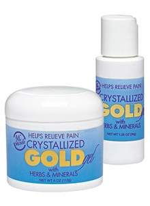 Crystalized Gold Pain Relieving Gel
