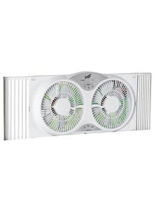 Twin Window Fan with Remote