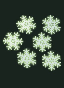 Glow-In-The-Dark Snowflakes