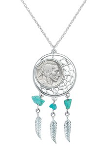 Buffalo Nickel Dream Catcher Necklace
