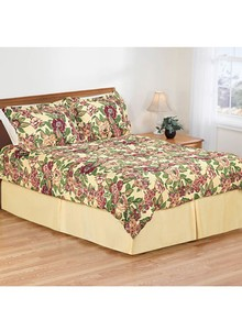 Cabbage Rose Comforter Set