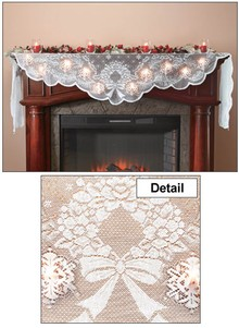 Christmas Mantel Scarf With Lights Carolwrightgifts Com