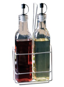 2-Piece Glass Bottle w/ Metal Stand