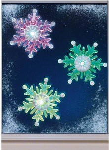 Set of 3 LED Snowflake Window Lights