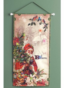 Lighted Christmas Wall Hanging