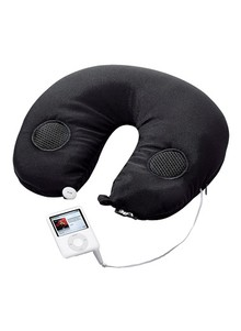 Travel Pillow with Built-In Stereo Speakers