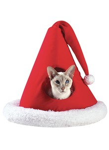 Santa-Hat Pet Bed