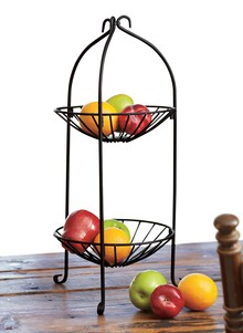 Two-Tier Metal Basket