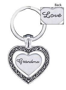 Spinning Heart Key Chain