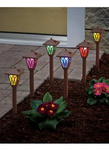 Set of 3 Color-Changing Pathway Lights