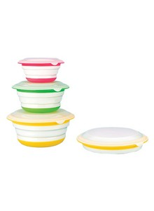 6-Piece Collapsible Easy-Store Bowl Set