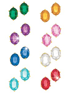 Set of 8 Crystal Earrings