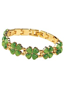 Magnetic Four-Leaf Clover Bracelet
