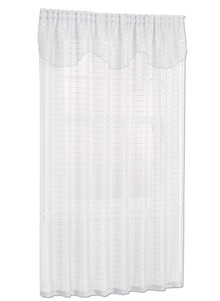Ribbon Sheer Panel with Valance