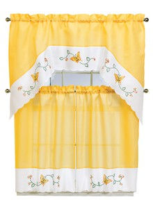 Embroidered Butterfly Curtains