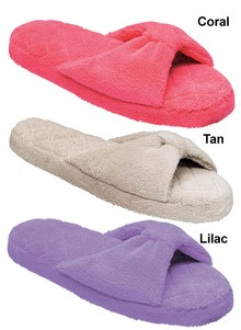 Plush Terry Slide Slippers