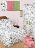 Floral Plisse Curtains