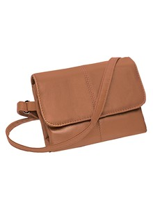 Leather Mini-Handbag w/ Multi-Pockets