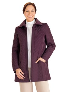 Ladies' Diamond Quilted Coat