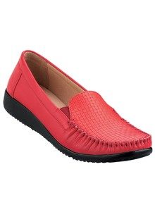 Woven-Design Moccasin Flat
