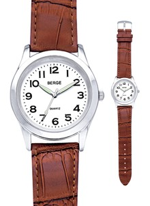 Leather Band Men's Watch