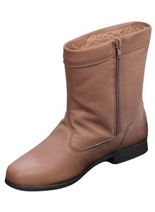 Leather Fleece-Lined Boots