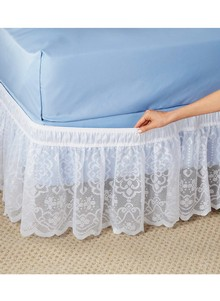 Ruffled Lace Bedskirt