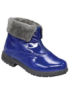 Patent Zip-Front Boot