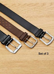 Set of 3 Leather Belts