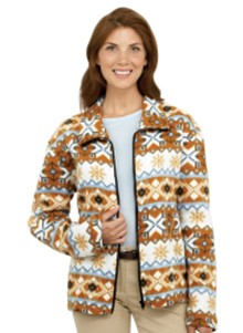 Fleece Snowflake Jacket