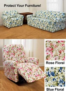 Floral Jersey Slipcovers