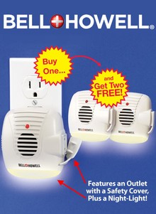 Bell+Howell&#174 3-in-1 Ultrasonic Pest Repeller