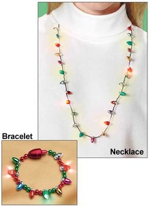 Flashing Holiday Bulb Jewelry