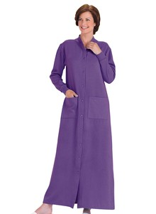 Fleece Snap-Front Robe