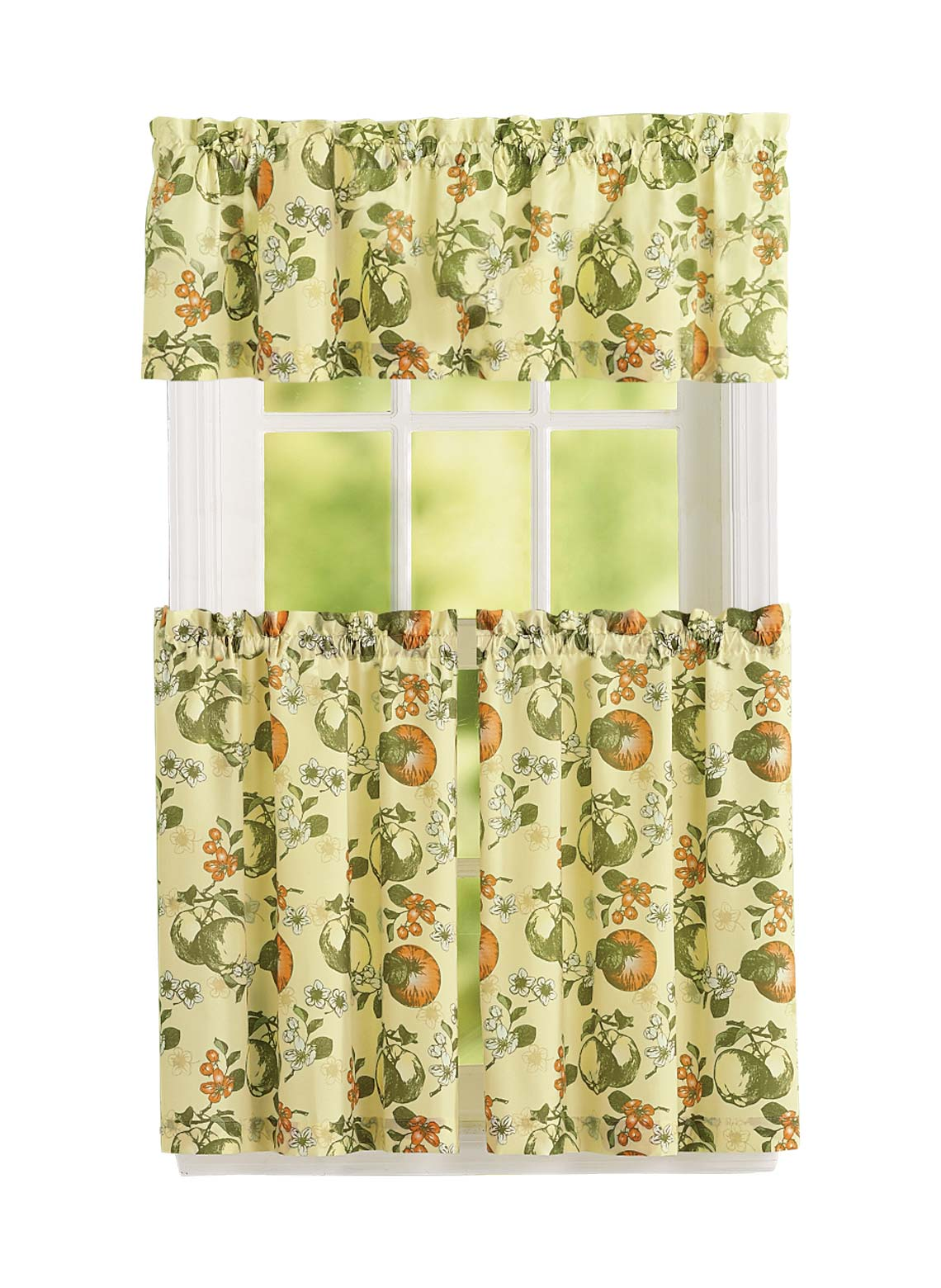 Kitchen Curtain and Valance Set