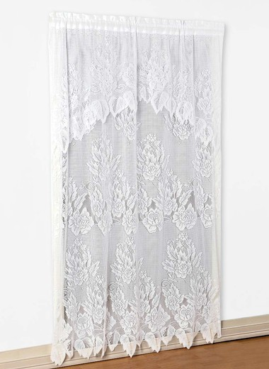 Lace panel with valance