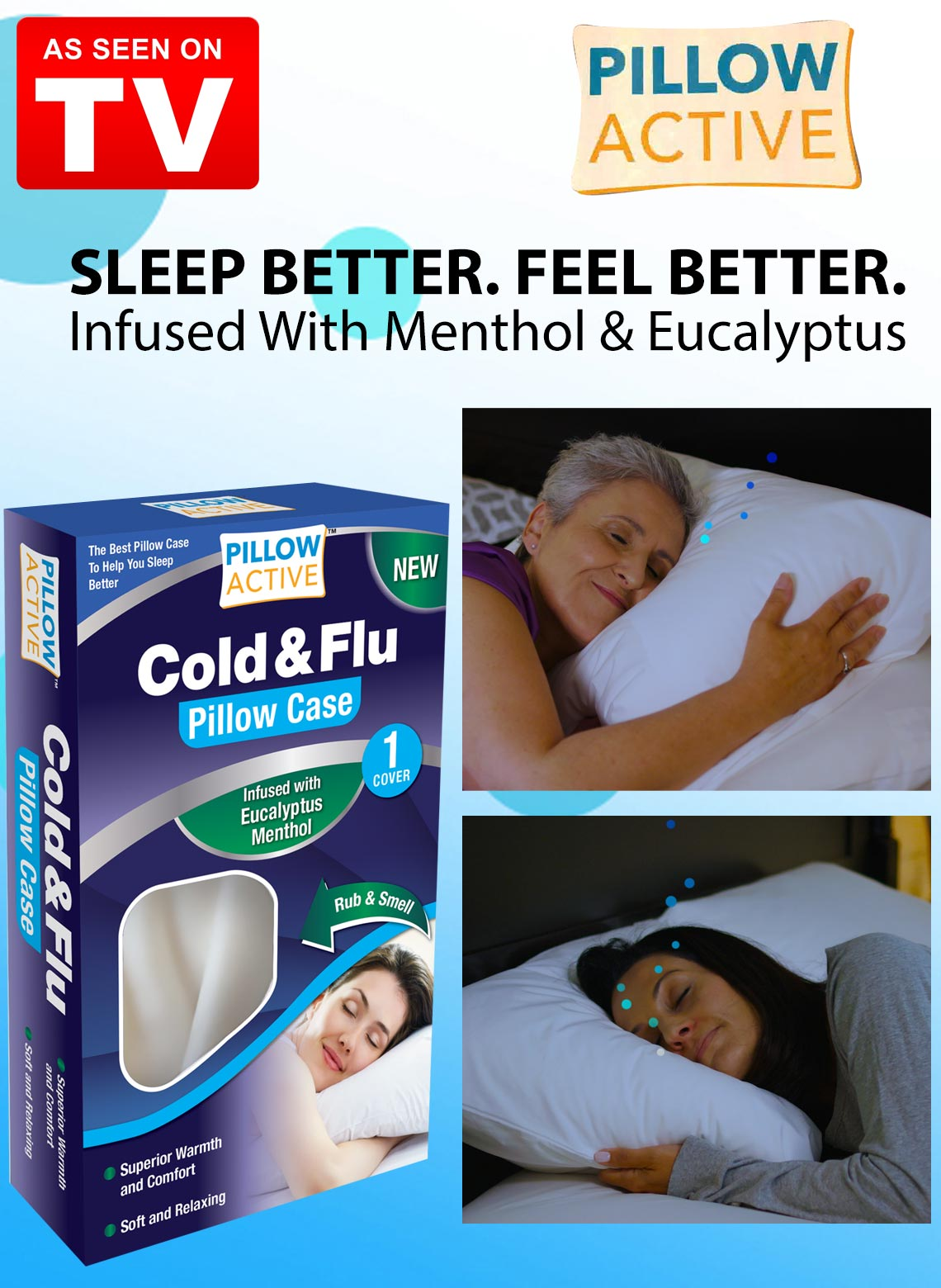 Pillow Active Cold And Flu Pillow Case Carolwrightgifts Com