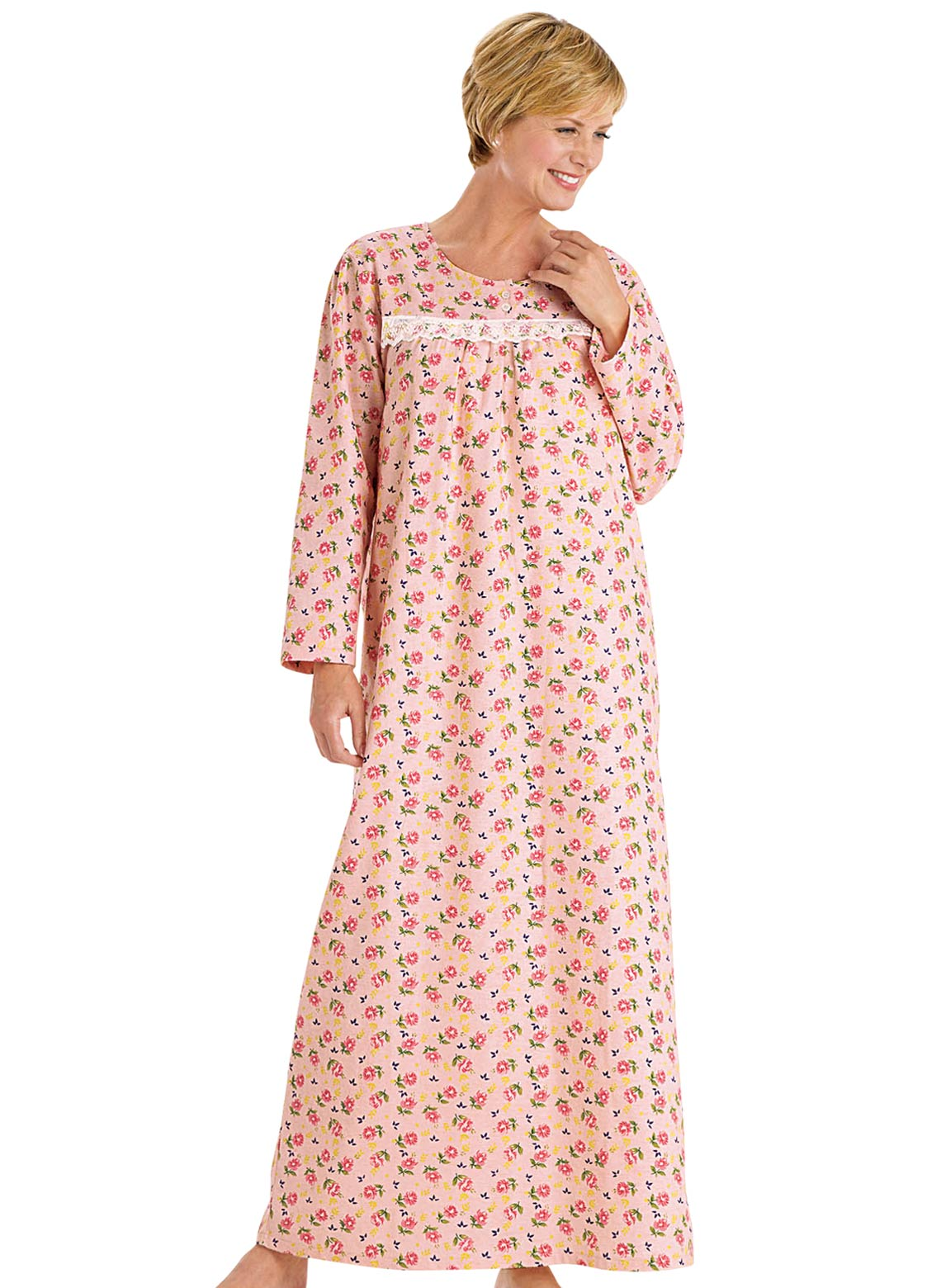 Printed Flannel Gown   CarolWrightGifts.com