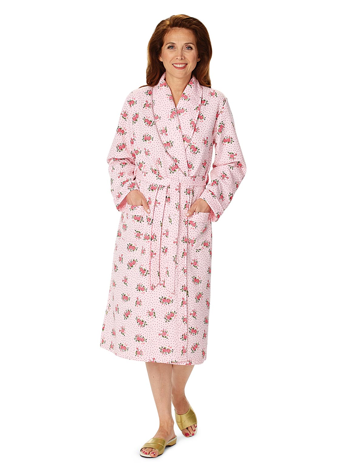 Slip on this womens quilted flannel robe to stay warm during chilly mornings and nights. This bathrobe with mandarin collar includes silky-soft lining and full snap front/5(27).