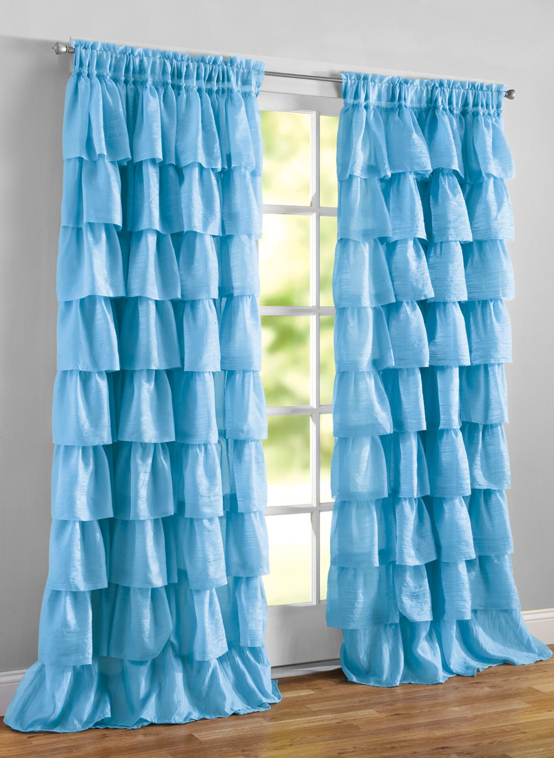 Ruffled Layered Curtains Carolwrightgifts Com
