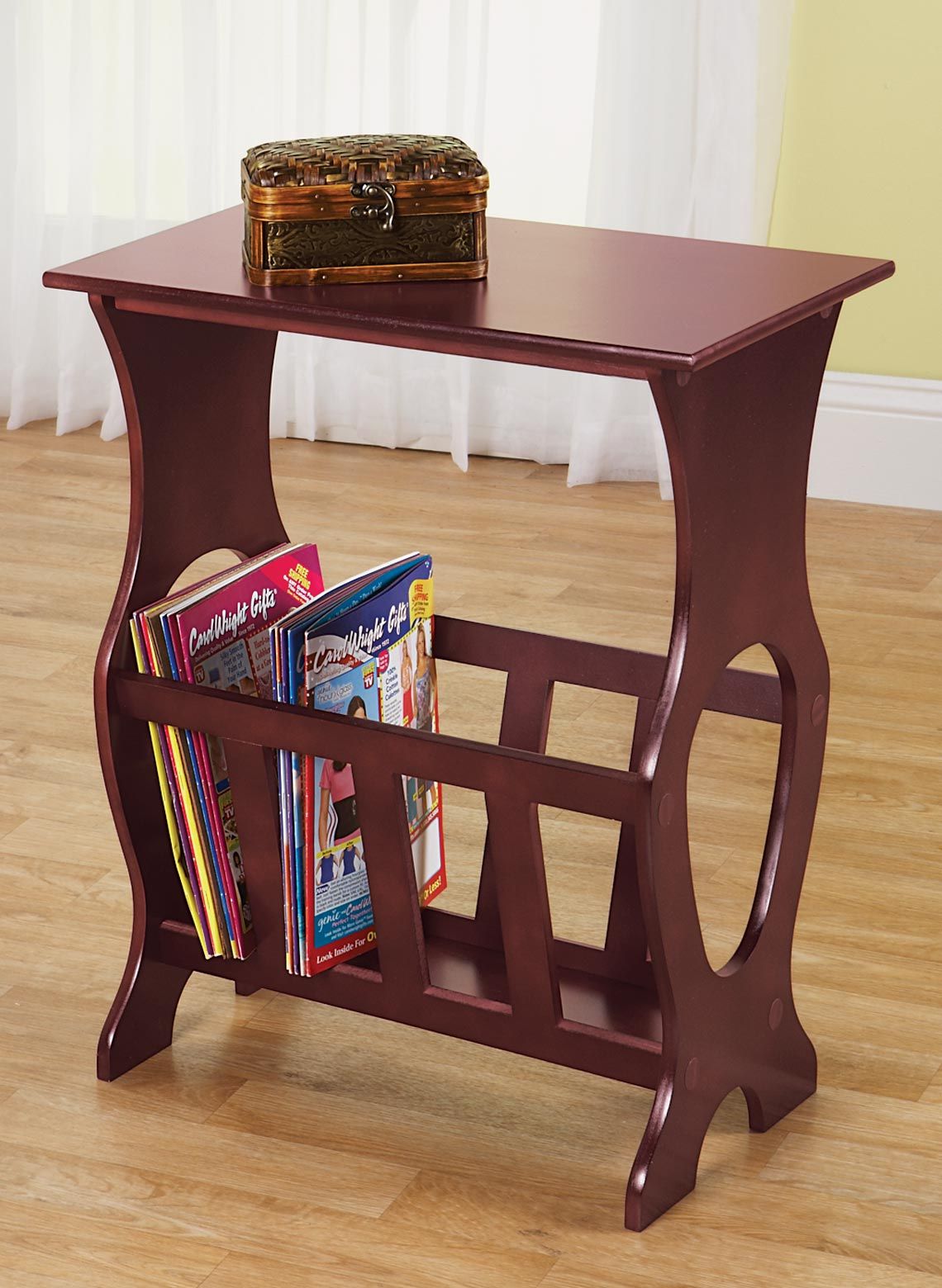 Side table magazine rack for 13 a table magasin