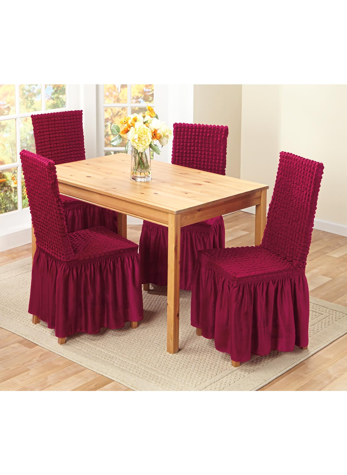 Textured Dining Room Chair Covers   CarolWrightGifts.com