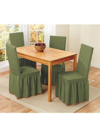 Textured Dining Room Chair Covers, Dining Room Chair Covers