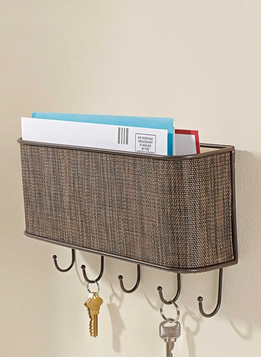 Household helpers home accessories to make life easy - Wall mount mail and key rack ...